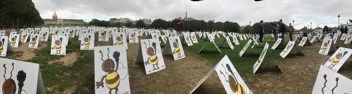 577 abeilles en colère - Manifestation contre la ré-autorisation des néonicotinoïdes du 23 septembre 2020